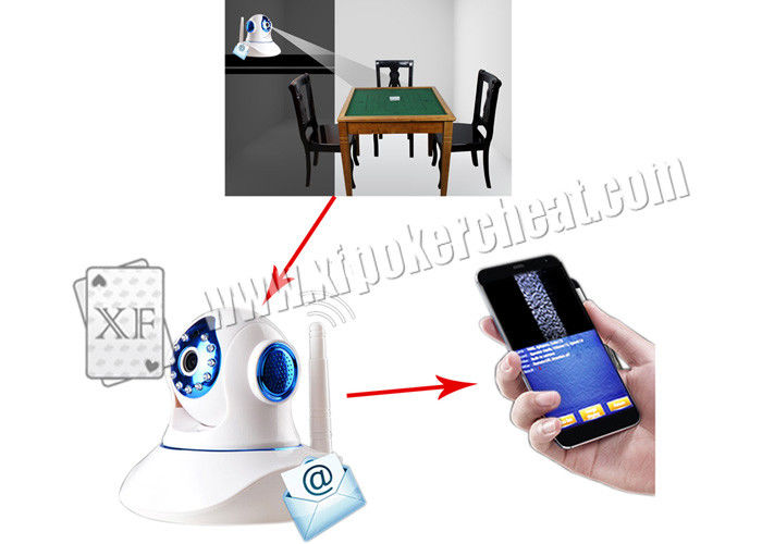 White PTZ Infrared Poker Scanner For Side Marked Playing Cards
