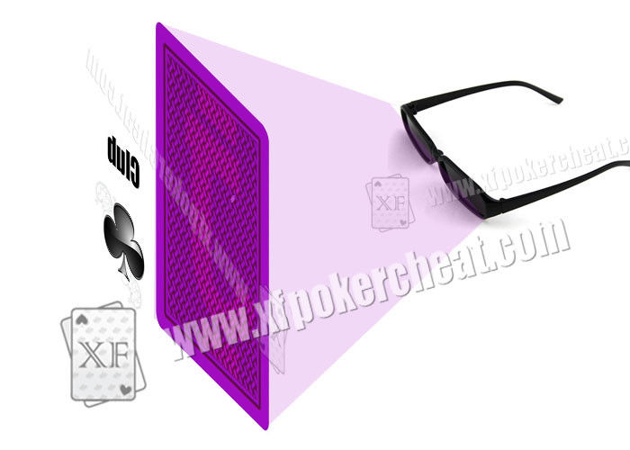 Plastic Purple Perspective Glasses For Gambling Props / Poker Cheat
