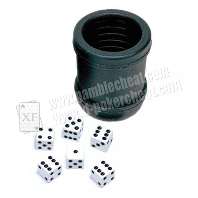 Black Dice Cup With Mini Camera Inside See Through The Dice By Video Phone