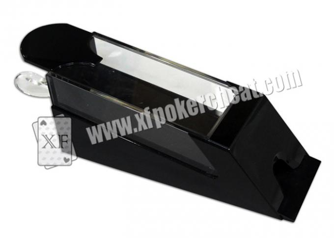 Black Plastic Poker Shoe Casino Cheating Devices For See First Normal Coming Card