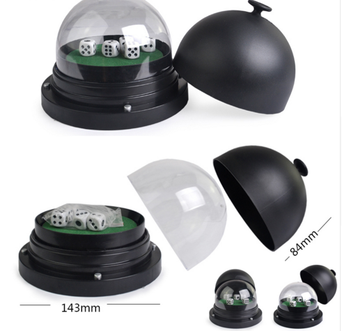 Black Plastic Electric Round Cup For Casino Dice Gambling Cheat With Remote Control