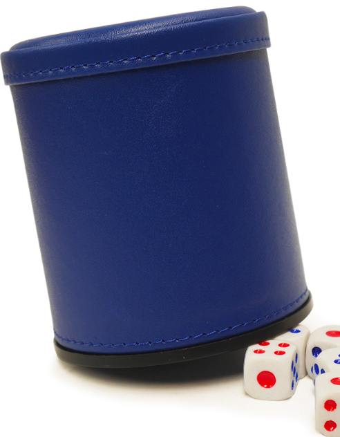 Leather Dice Cup With Mini Camera / Casino Magic Dice Inside See Through The Dice By Video Phone
